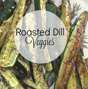 Roasted dill veggies with dill seasoning