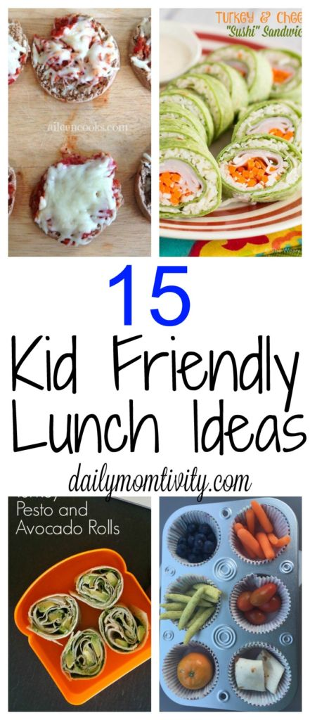 15 fun kid friendly lunch ideas. https://dailymomtivity.com