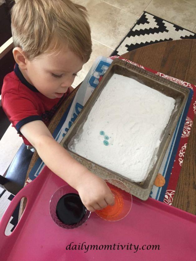 Baking Soda & Vinegar Fun activity for kids