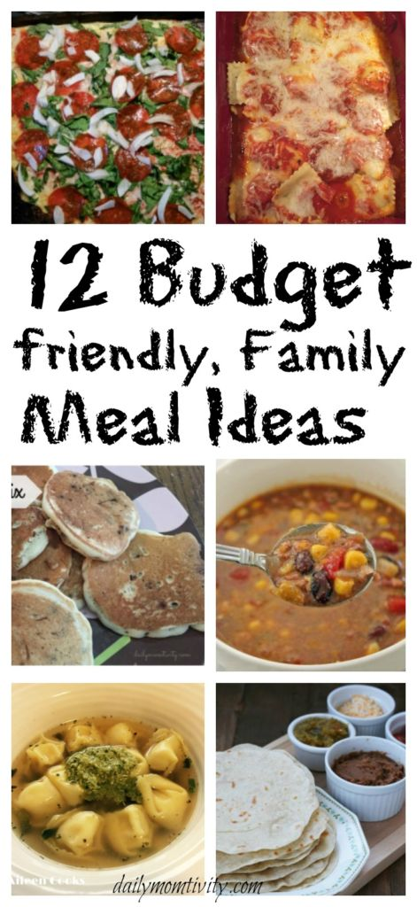Budget Friendly Family Meal Ideas