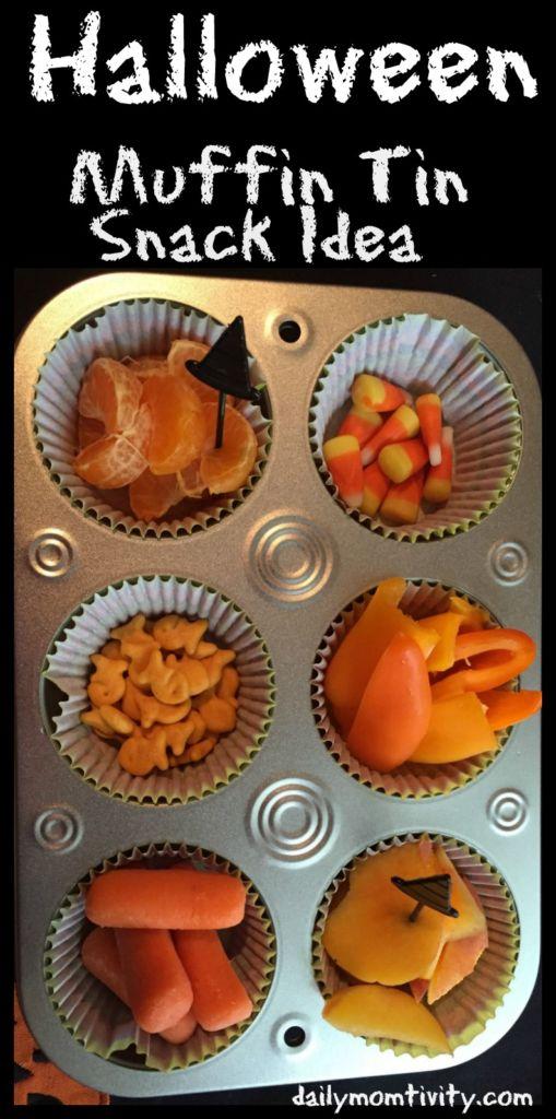 Halloween Muffin tin snack idea that kids will love!