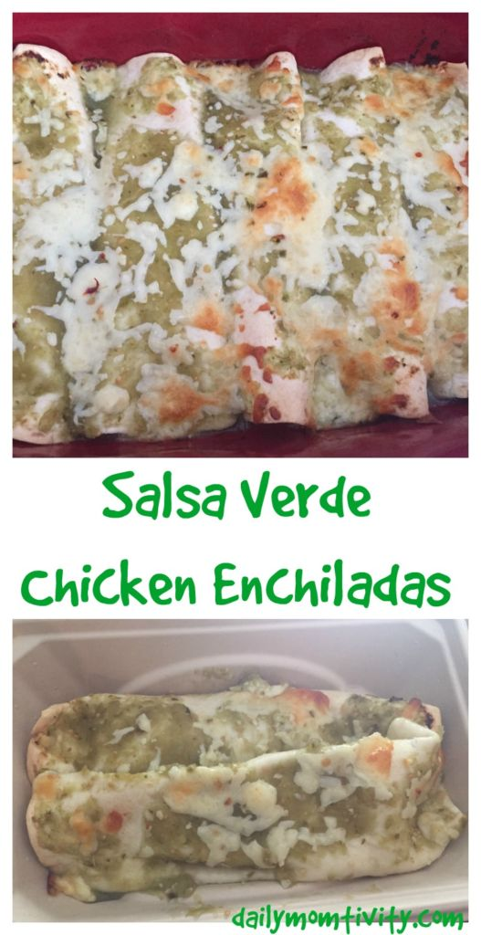 Salsa Verde Chicken Enchiladas, easy to make and is so tasty with a little spice