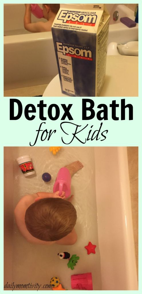 How to set up a detox bath for kids and reasons why it works!