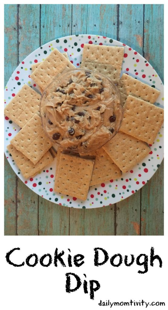 You have to try this amazing dip that tastes just like cookie dough!!