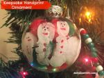 Keepsake Hand print Snowman Ornament