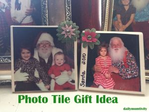 Easy Photo Tile Gift Idea