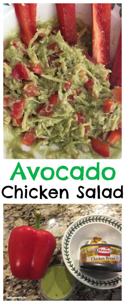 Avocado Chicken Salad- perfect lunch idea that is helalthy