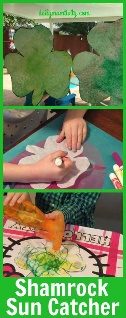 Shamrock Sun catchers! A fun craft idea using a coffee filter.