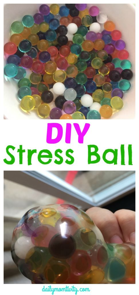 Have some stress in your life? Make this stress ball at home with water beads. Great activity to do with kids!