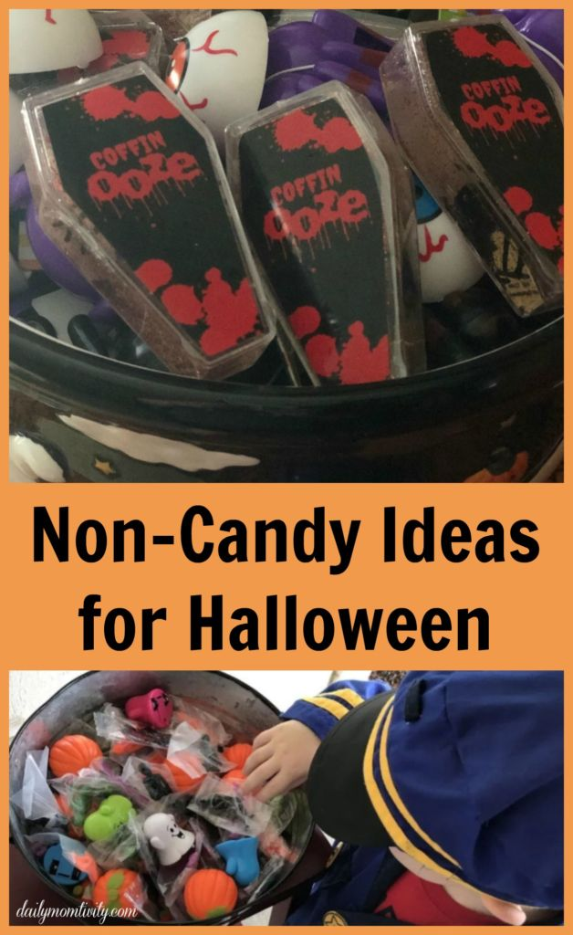 A great list of ideas of non-candy ideas for Halloween. Perfect for trunk or treat or to Halloween night!