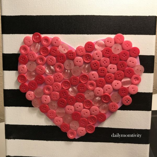 Button Heart Craft (Easy Valentine's Day Craft)