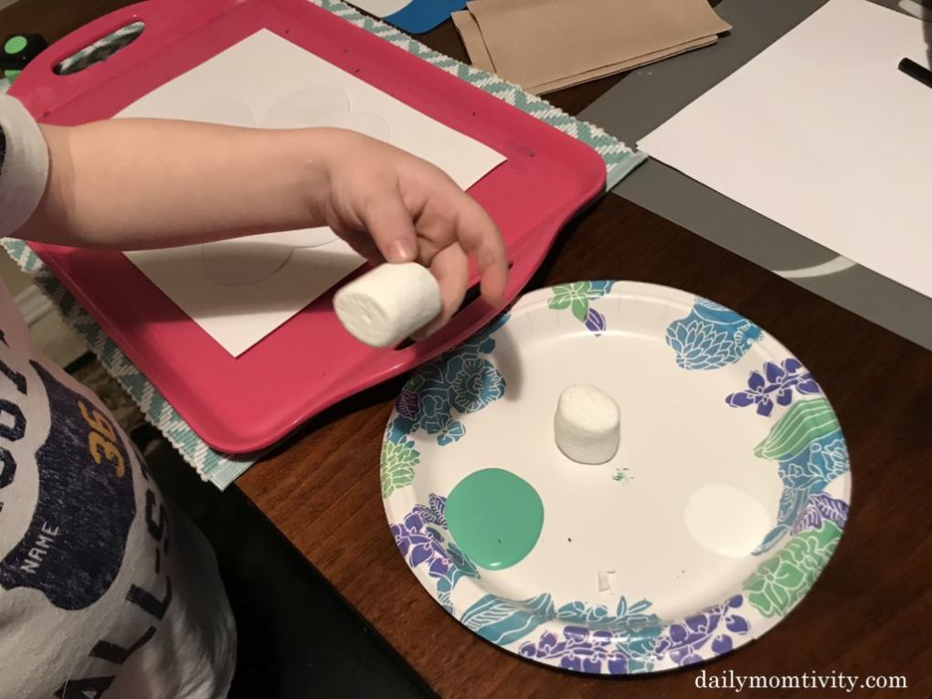 Marshmallow painting is not only a fun thing to do but it's also a great sensory activity!