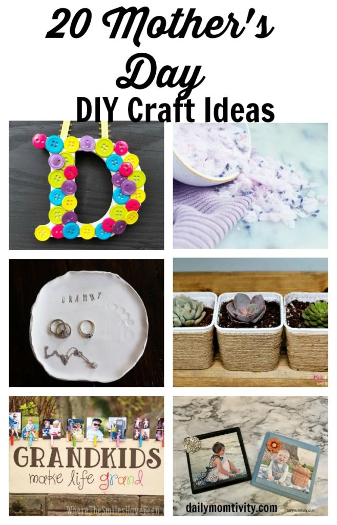 20 Mother's Day craft Ideas that you can DIY or have the kids help you make!