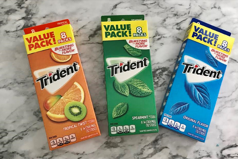 Gum Gift Idea using Trident Gum Perfect for Teachers or Friends