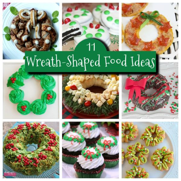 11 CHRISTMAS WREATH SHAPED FOODS