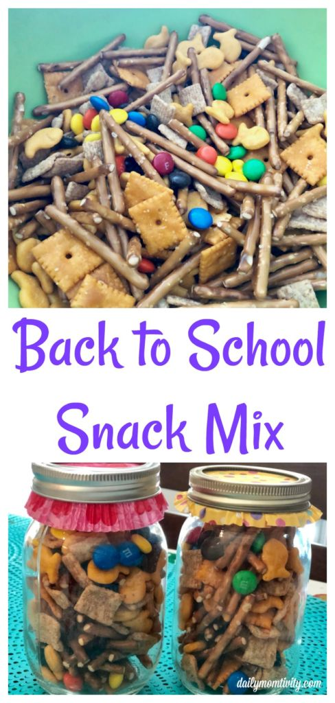 A yummy back to school mix that is perfect for your starving kids! Mix and match with your favorite goodies!