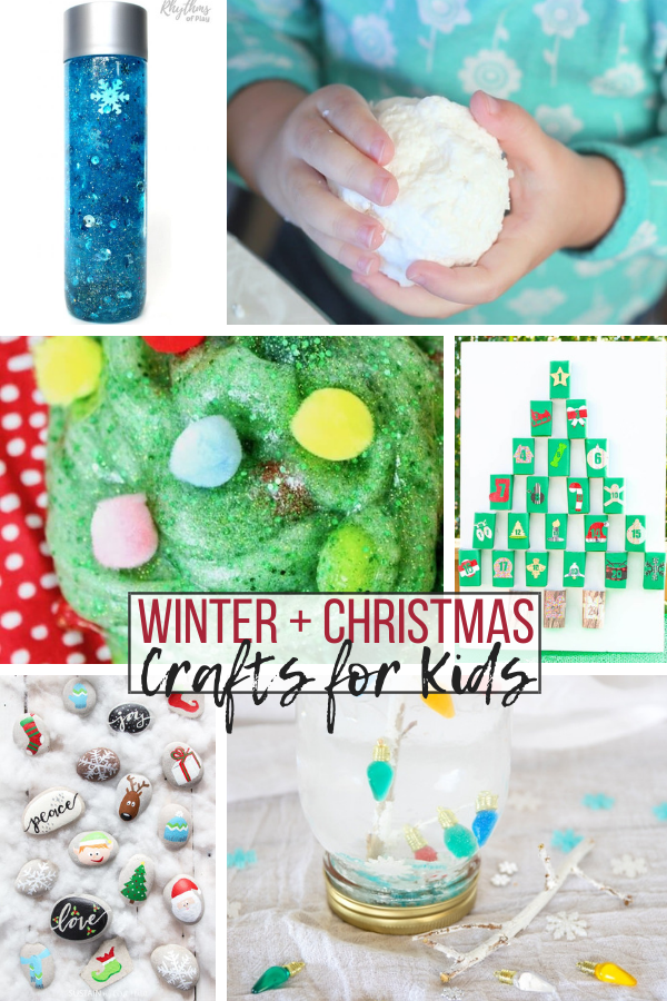 Over 20 winter and Christmas crafts for kids