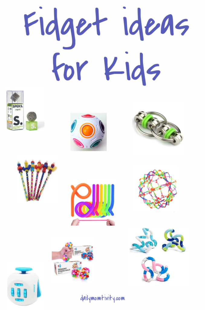 Some Ideas you might like for Fidgets for Kids! Try some of these in your homeschool to keep the kids on track with homework. Fidgets will keep their hands busy so their minds can continue working