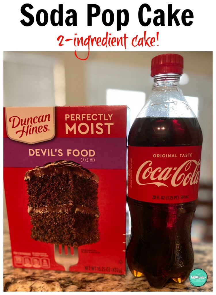 2 Ingredient Soda Pop Cake! It's so easy to make and only calls for 2 things; cake mix and 12 oz of your favorite soda.