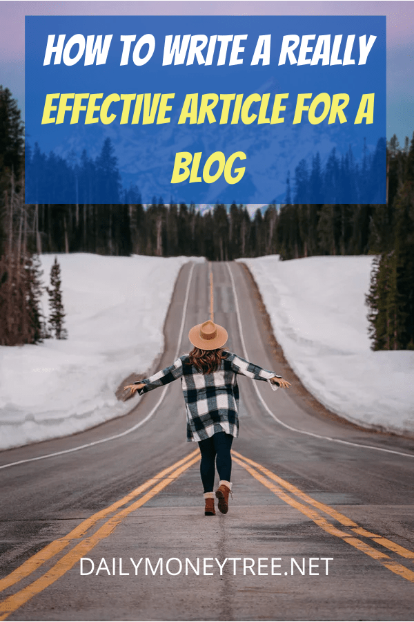 How To Write A Really Effective Article