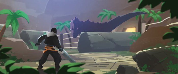 T-rex dans la serre de combat.jpg