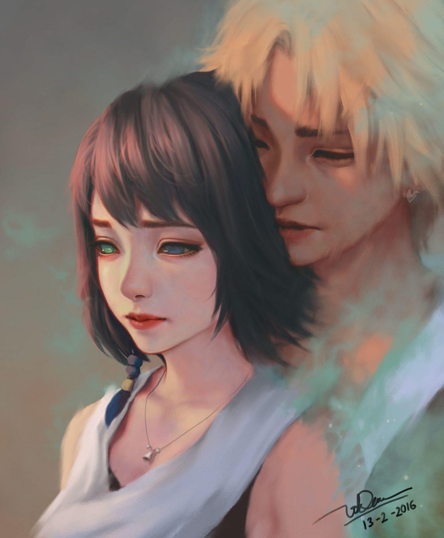 Yuna et Tidus