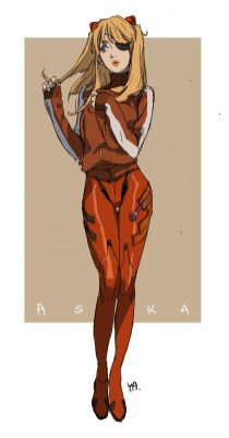 Asuka Darling in the Franxx et Evangelion