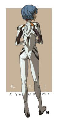 Rei Ayanami Darling in the Franxx et Evangelion