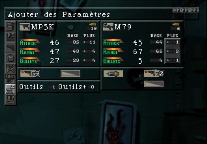 Equipement Parasite Eve
