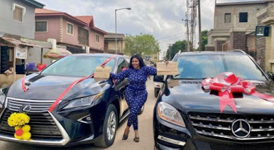 Biodun Okeowo buys a new car and gets another as a gift