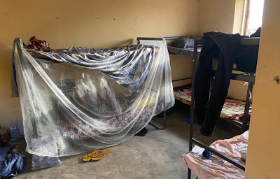 Shocking photos of isolation centre in Taraba NYSC camp