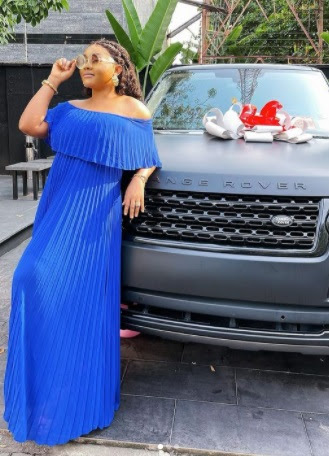 Actress Mercy Aigbe shows off her new car [photos]