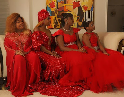 Annie Idibia poses with her mum and daughters in new photos