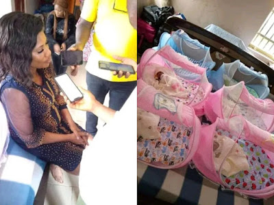 Bayelsa Woman delivers sextuplets 6 years after having twins