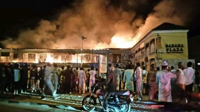 Goods worth millions destroyed as fire guts Bauchi plaza