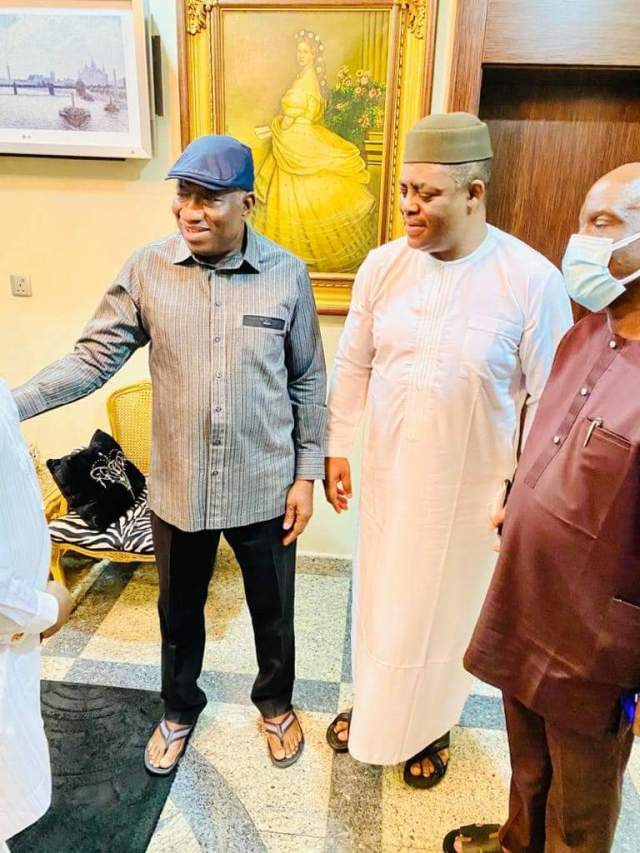 """None like him"" – FFK says as he visits Ex-President Goodluck Jonathan at home [photos]"