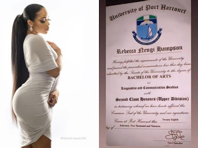 Picture of Nengi's original Uniport certificate surfaces