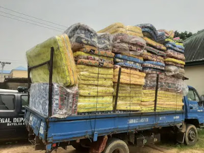 "Two arrested for ""stealing"" truckload of mattresses meant for flood victims in Bayelsa"