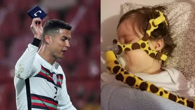 Armband thrown away in disgust by Christiano Ronaldo to be auctioned to save a little girl