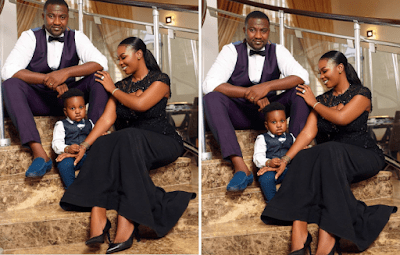 Ghanaian Actor, John Dumelo shares new photo of his family