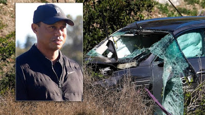 Revealed! Tiger Woods crash was due to 'unsafe' driving speed