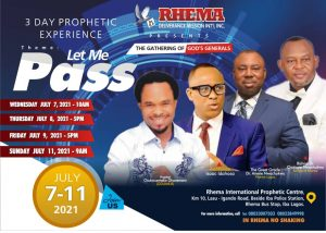 ODUMEJEJE SET TO STORM LAGOS FOR RDMs LET ME PASS