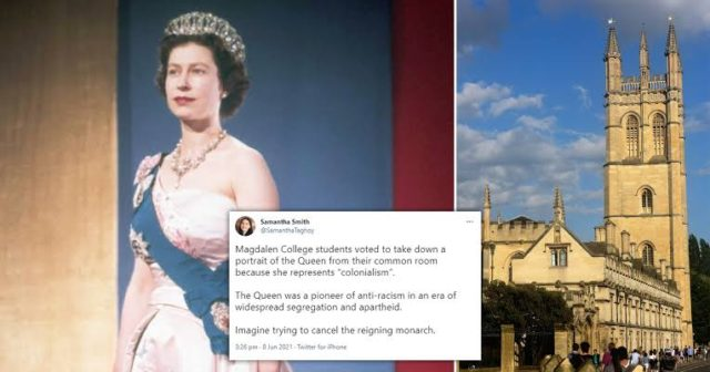 Oxford students vote to remove Queen's portrait from common room due to 'colonial history'