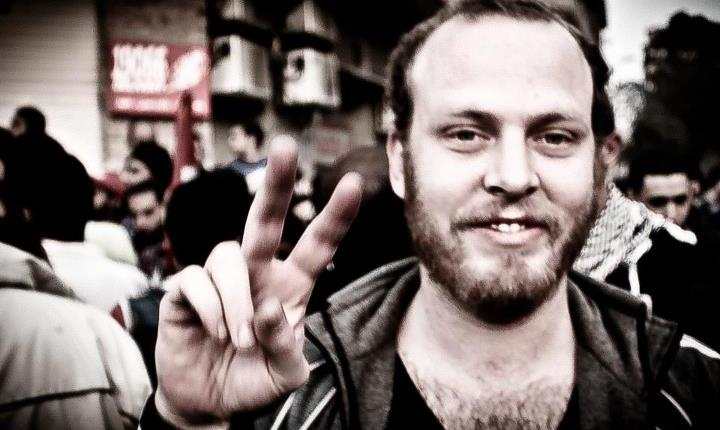 Australian journalist Austin Mackell who was arrested along with colleagues in the Nile Delta town of Mahalla Austin Mackell