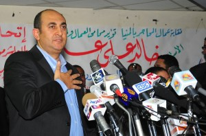 Former presidential candidate Khaled Ali speaks at a rally (File photo) Hassan Ibrahim / DNE