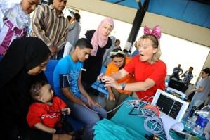Lisa Friessen has fun during the screening process Ahmed Ibrahim