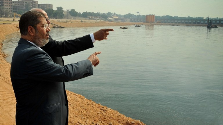 President Mohamed Morsy during his visit to Assiut Courtesy of the presidential office