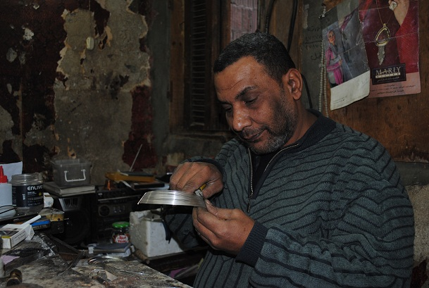 Ghaly Mohamed at work in his workshop Abdel-Rahman Sherief
