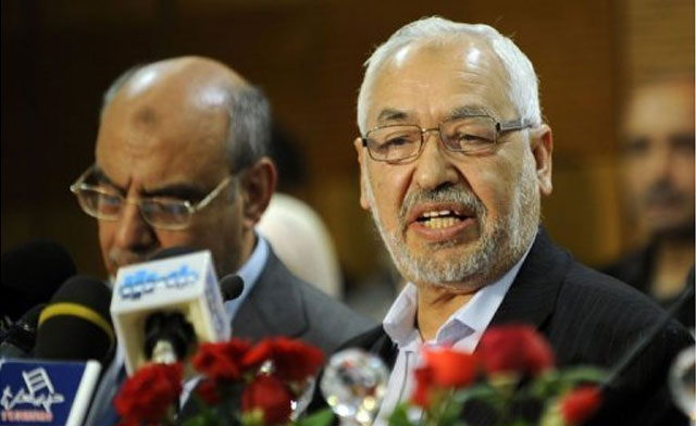 Ennahda chief Rached Ghannouchi has strongly reiterated his party's refusal to relinquish power in line with an initiative proposed by Prime Minister Hamadi Jebali Photo: Ennahda chief Rached Ghannouchi (AFP-Photo)