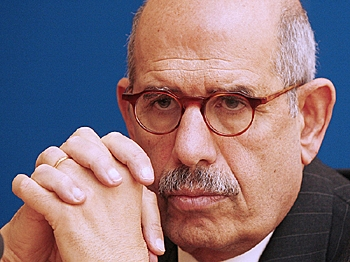 Opposition leader Mohamed ElBaradei said that Egypt also needed a process of national reconciliation, constitutional amendments, and an election law that guarantees fairness. (AFP Photo)